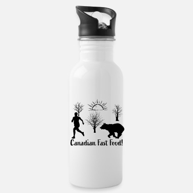 Canadian Fast Food Bear Canadian Fast Food - Water Bottle