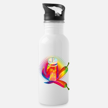 Sharp Rainbow peppers and pepper shakers - Water Bottle