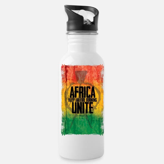 Africa Mugs & Drinkware - Africa - Water Bottle white