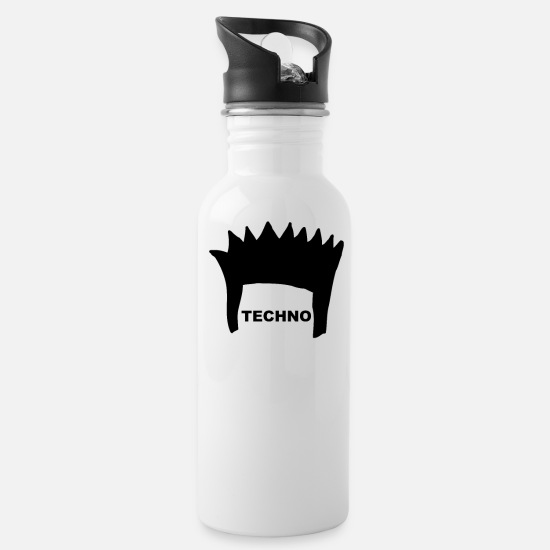 Bass Mugs & Drinkware - FRISUR Electronica Underground Club Festival Style - Water Bottle white