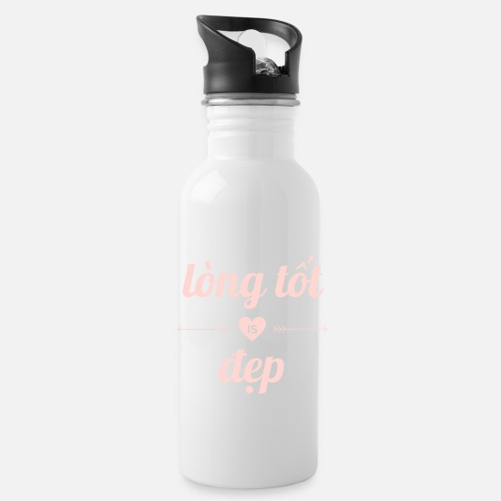 Love Mugs & Drinkware - Vietnamese saying: Kindness is nice - Water Bottle white