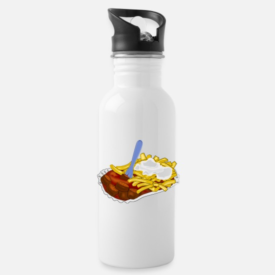 Lunch Mugs & Drinkware - fast food - Water Bottle white