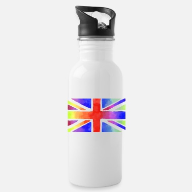 union jack britain england flag - Water Bottle