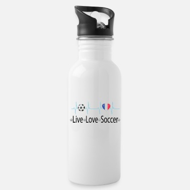 Futbolista Live love soccer heart fan france - Cantimplora