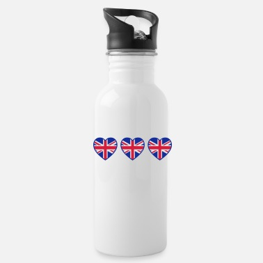 I Love Ireland great_britain_hearts_c3 - Water Bottle