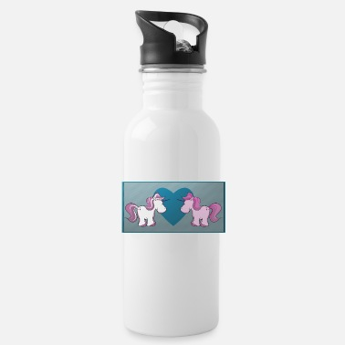 Pony Unicorn pegasus horse riding pony horses magic - Water Bottle
