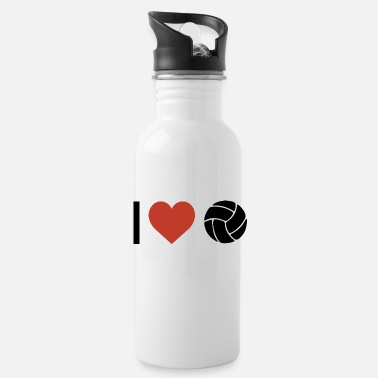 Sports I heart volleyball sport - Water Bottle