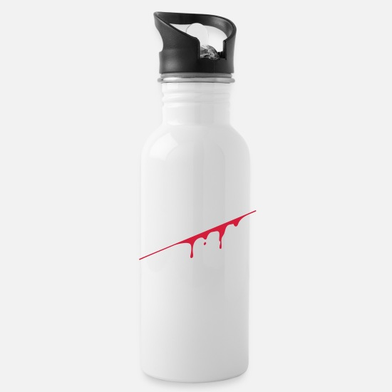 Miscellaneous Mugs & Drinkware - blood splatter - Water Bottle white