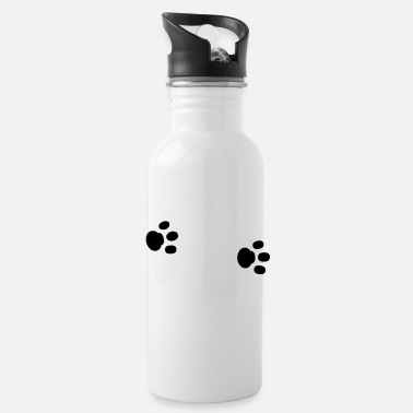 Paw Paws paw paw paws footprint animal trace - Water Bottle