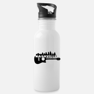 Nashville Dixieland Guitar Silhouette - Water Bottle