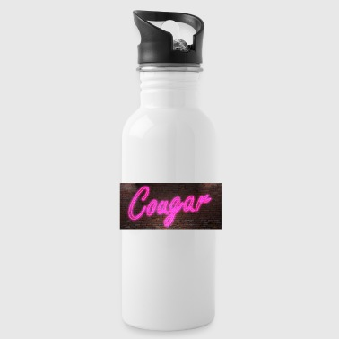 Neon neon signs Cougar - Water Bottle