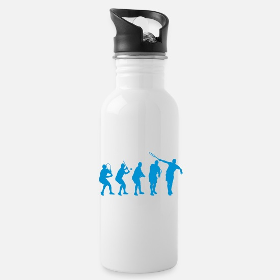 Tennis Mugs & Drinkware - Tennis Backhand Stages - Water Bottle white