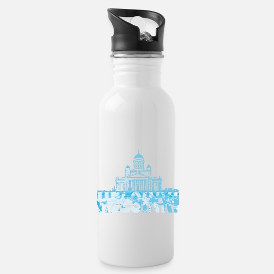 Finland Mugs & Drinkware - Helsinki Cathedral - Water Bottle white