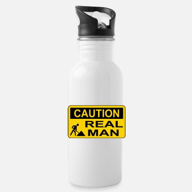 Caution Caution Real Man - Trinkflasche