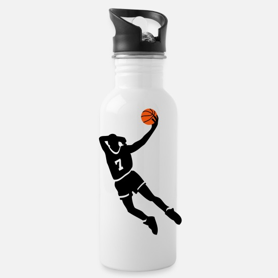 Basketball Mokken & toebehoor - Basketball slam dunk - Drinkfles wit