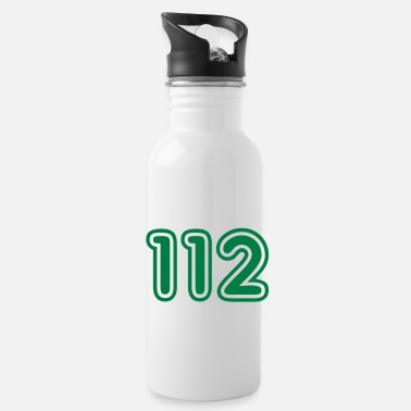 Retro Car 112, Green College, Nummer, Zahlen, Numbers, - Water Bottle