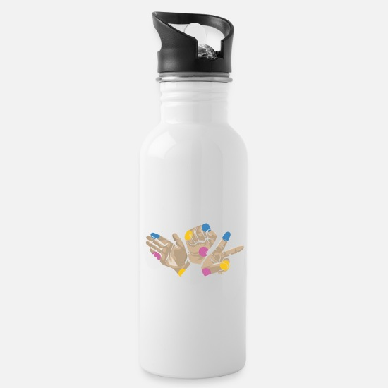 Birthday Mugs & Drinkware - Raver hands - Water Bottle white