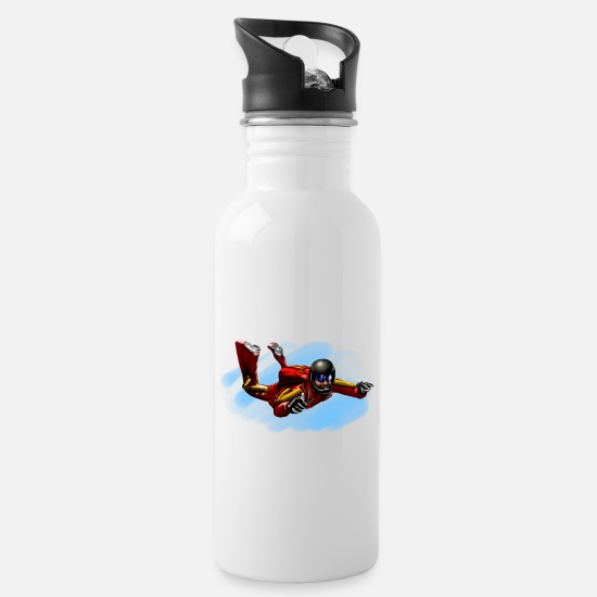 Parachute Mugs & Drinkware - skydiver - Water Bottle white