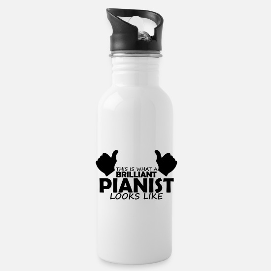 Pianist Mugs & Drinkware - brilliant pianist - Water Bottle white