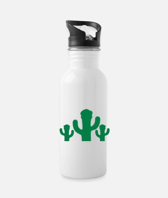 Small Mugs & Drinkware - 3 Cactus - Water Bottle white