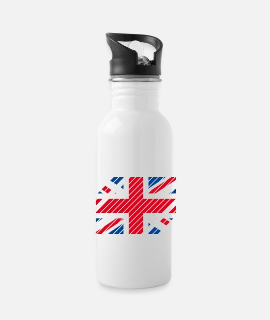National Team Mugs & Drinkware - Great Britain National Flag - striped - Water Bottle white