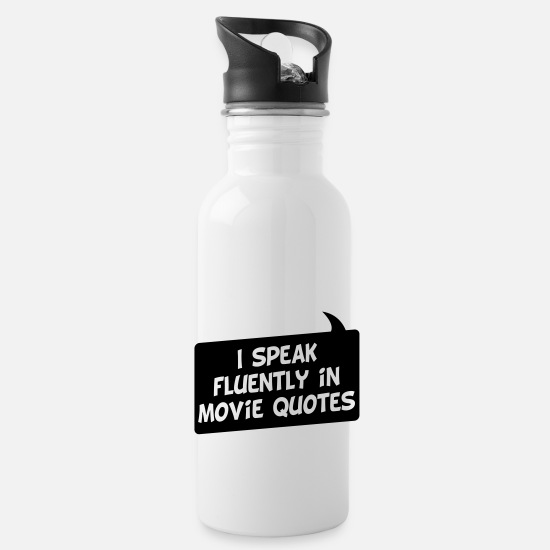 Citation De Film Mugs et récipients - Je parle couramment citations de film - Gourde blanc