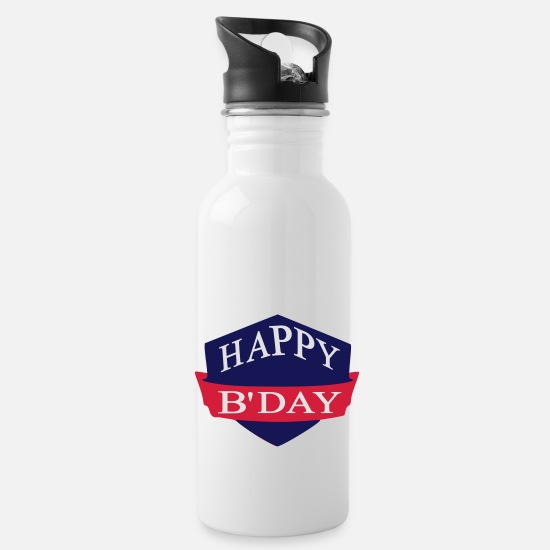 Happy Birthday Mugs et récipients - happy birthday - Gourde blanc