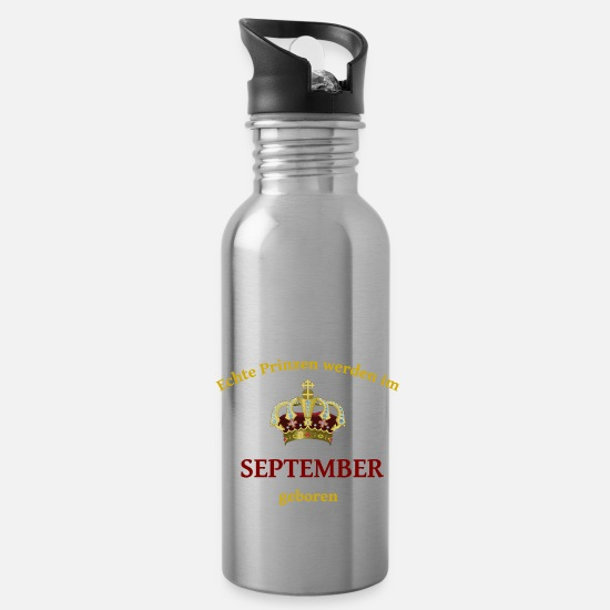 Birthday Tassen & Becher - September Prinz - Trinkflasche Lightsilver