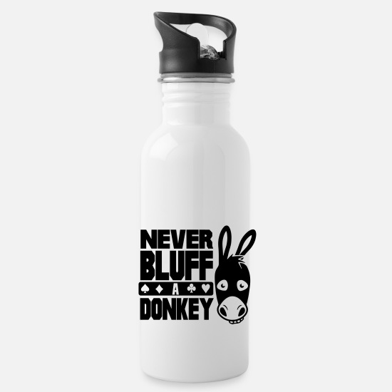 Hold'em Mugs et récipients - Poker: Never bluff a donkey - Gourde blanc