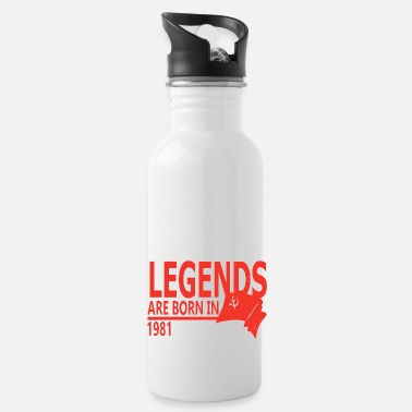 1981 Legends are Born in 1981 gift idea - Water Bottle
