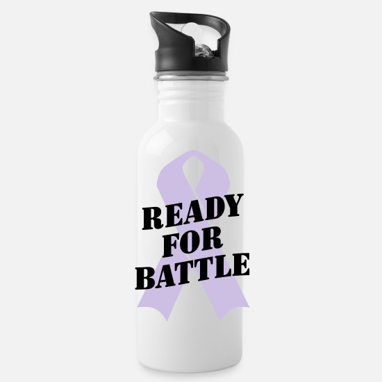 Conflict Mugs & Drinkware - Ready for Battle Ribbon - Water Bottle white
