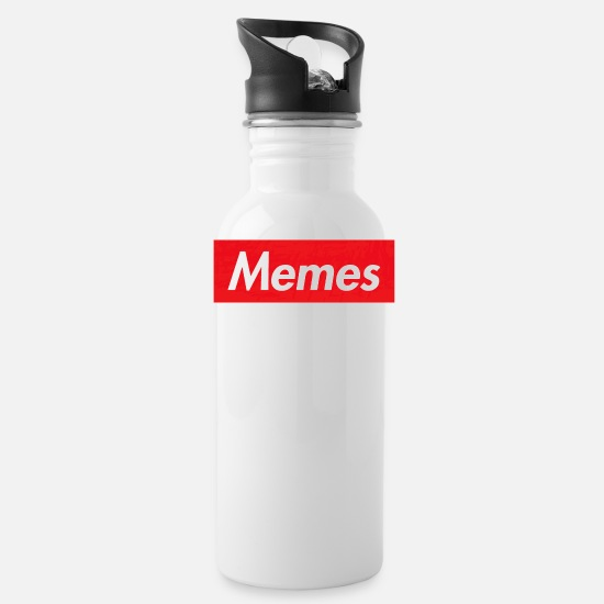 Meme Mugs & Drinkware - memes - Water Bottle white