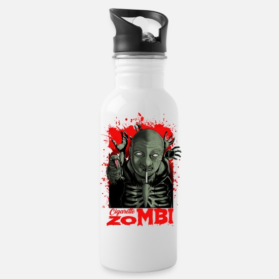 226e659ccf Cigarette zombie man woman horror scary blood Water Bottle | Spreadshirt