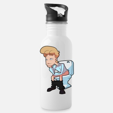 Potty On The Toilet - Water Bottle