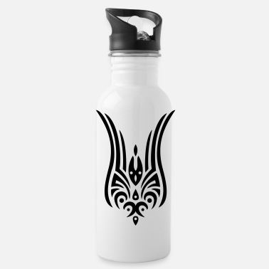 tribal tattoo tulip - Trinkflasche
