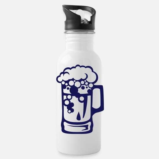 Beer Mugs & Drinkware - beer glass alcohol icon foam 2905 - Water Bottle white