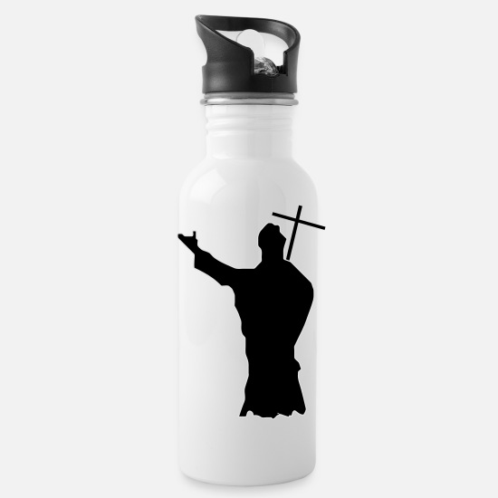 Pope Mugs & Drinkware - pope - Water Bottle white