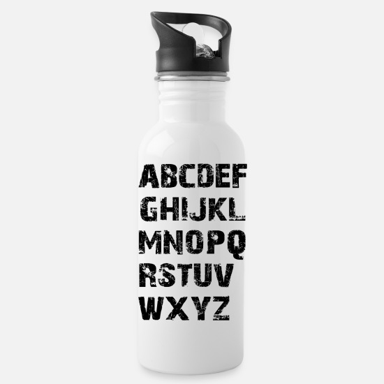 Abc Mugs & Drinkware - Schoolchild, ABC, ABC marksman, school, school enrollment, - Water Bottle white