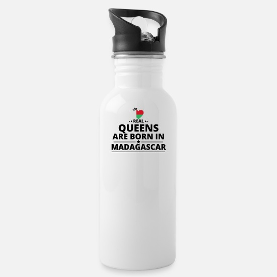 Love Mugs & Drinkware - GIFT QUEENS LOVE FROM MADAGASCAR - Water Bottle white