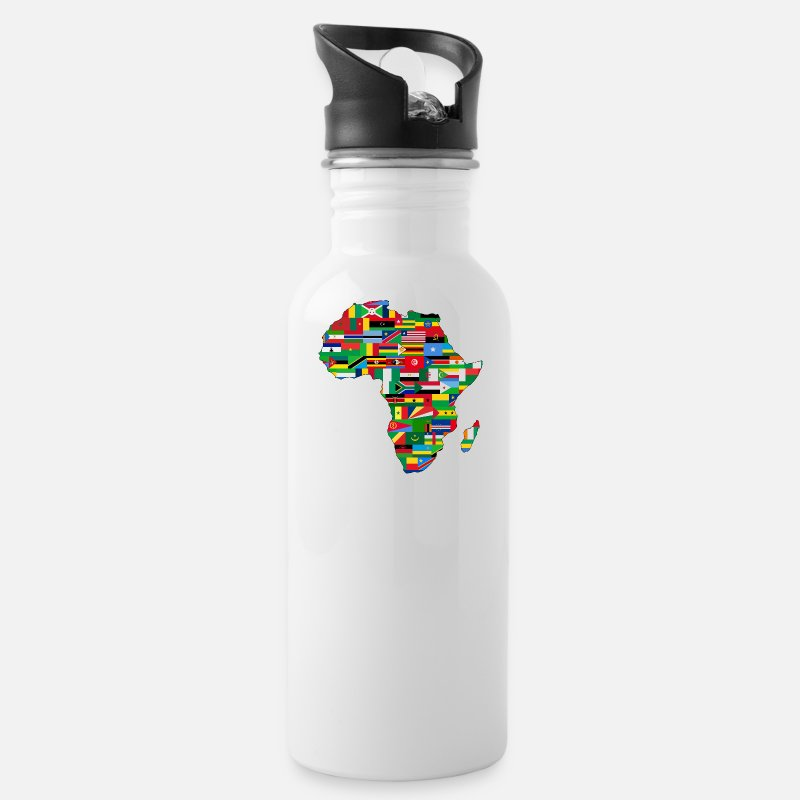 Africa Mugs & Drinkware - AFRICA AFRICA CONTINENT GIFTS - Water Bottle white
