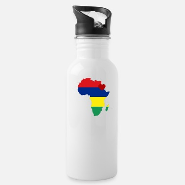 african_heart_of_mauritius - Water Bottle