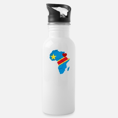 african_soccer_heart_of_the_democratic_republic - Water Bottle