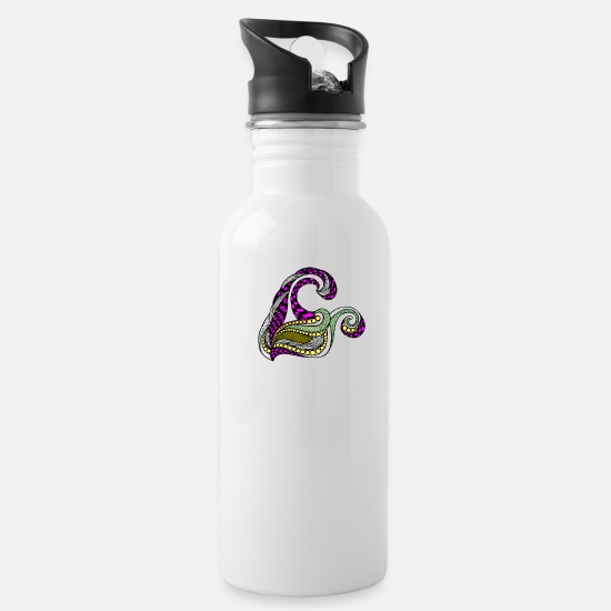Comic Mugs & Drinkware - comic twirls - Water Bottle white