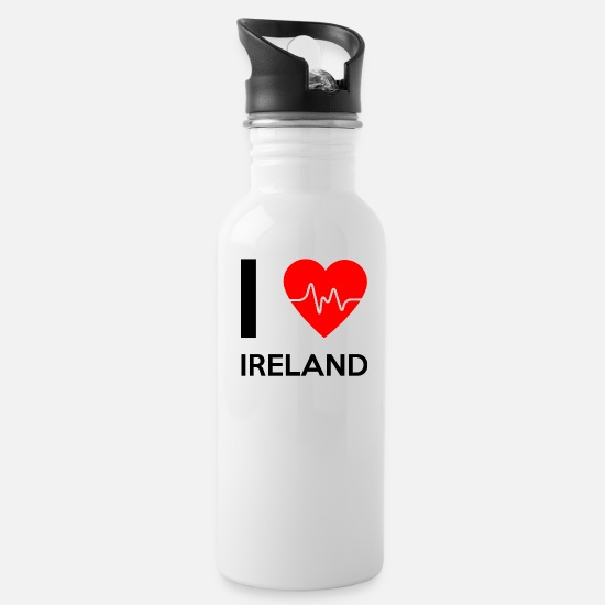 Love Mugs & Drinkware - I Love Ireland - I love Ireland - Water Bottle white