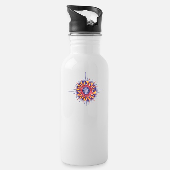 Mandala Mugs & Drinkware - I & I - Water Bottle white