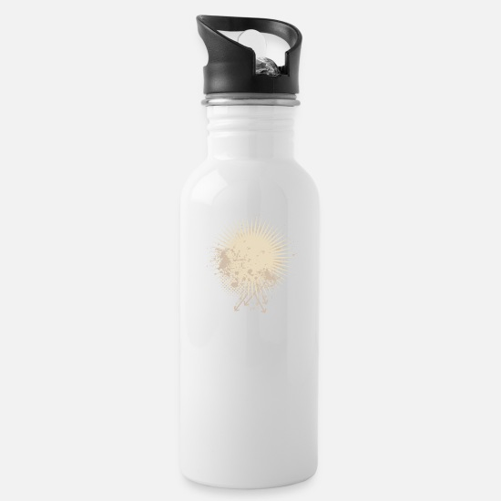 Ass Mugs & Drinkware - Vector background eu - Water Bottle white