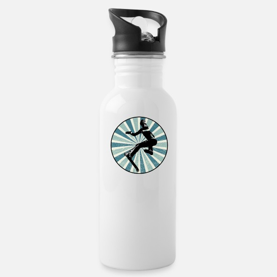 Scooter Mugs & Drinkware - RETRO Stunt Trick Scooter - Water Bottle white