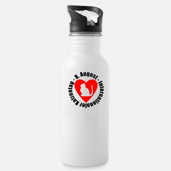 Gift Idea Mugs & Drinkware - Katzentag - Water Bottle white