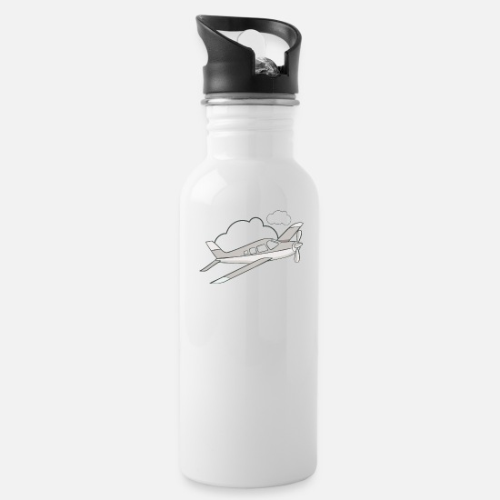 Cloud Mugs & Drinkware - Airplane in the air - Water Bottle white