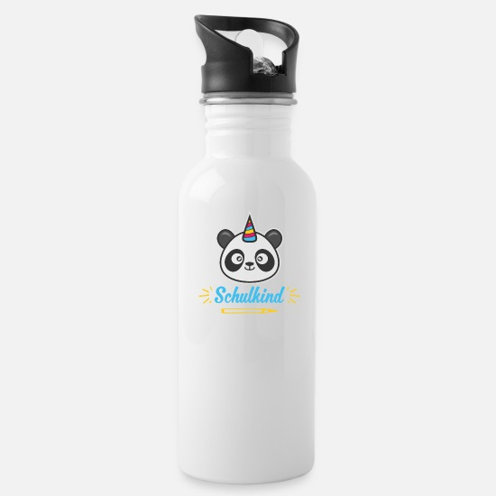 Gift Idea Mugs & Drinkware - Schoolchild Panda enrollment Pandicorn gift - Water Bottle white